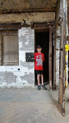 Aiden H. visiting the Mansfield Reformatory!