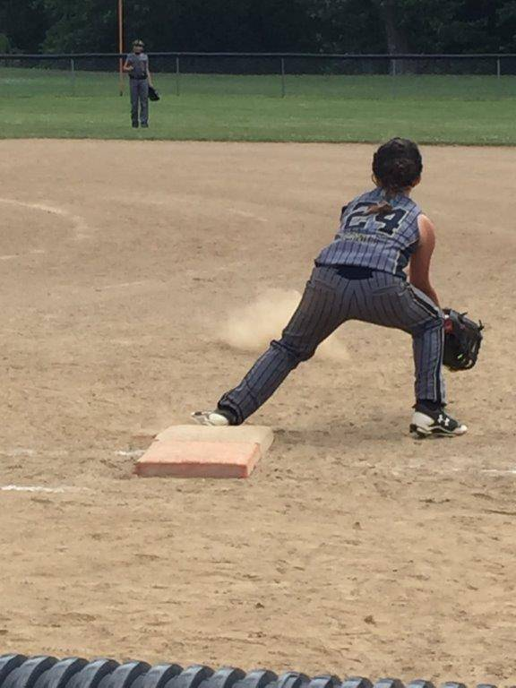 Zoey S. playing in Fast Pitch Championship game!