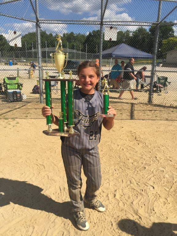Zoey S. Fast Pitch Softball Champs!