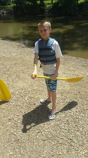 Aiden H. rafting at Mohican!