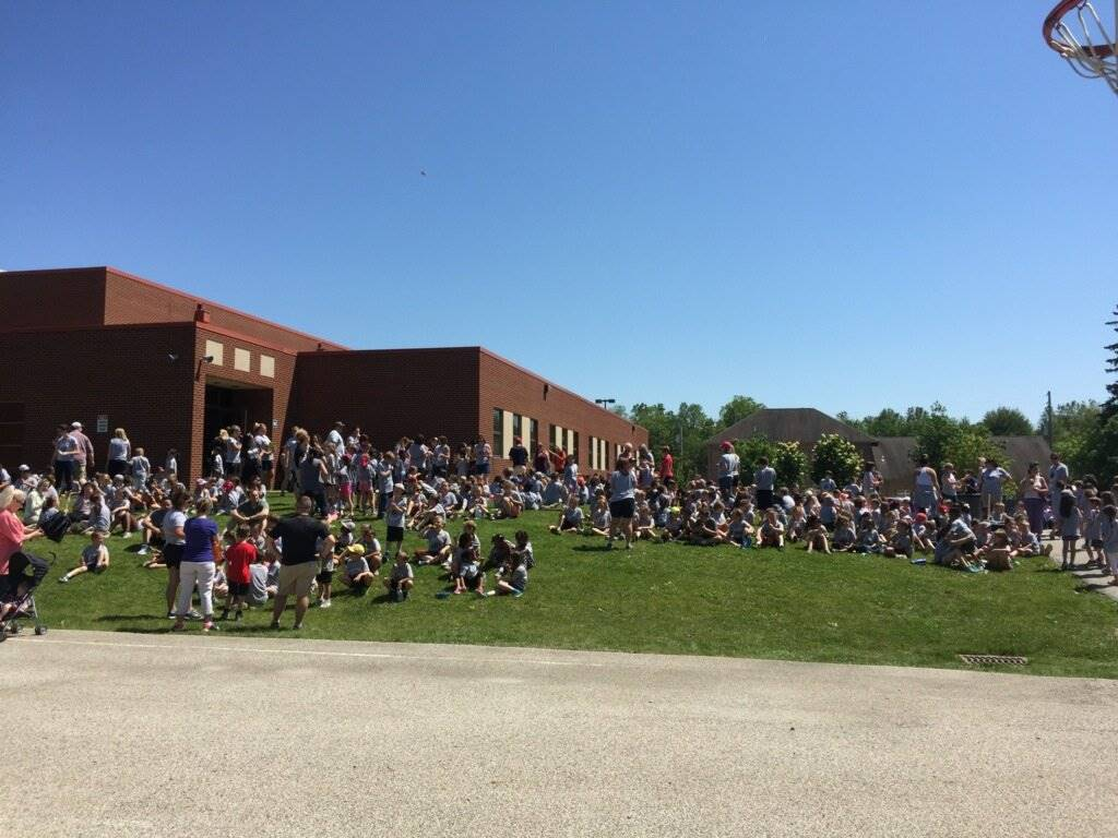 Enjoying popsicles at the end of field day